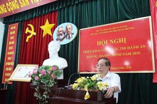 Nhiều kết quả tích cực trong công tác Thi hành án dân sự ở quận Tân Phú