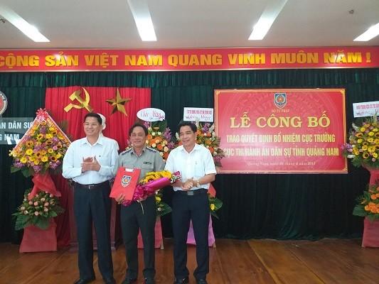 Trao quyết định bổ nhiệm Cục trưởng Thi hành án dân sự Quảng Nam