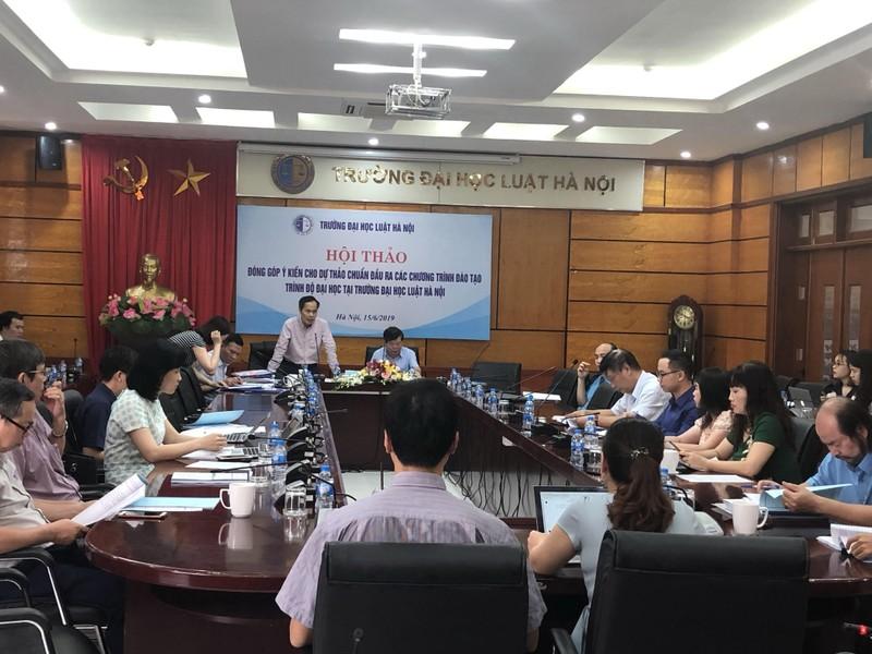 Xây dựng chuẩn đầu ra cho các chương trình đào tạo tại Trường Đại học Luật Hà Nội