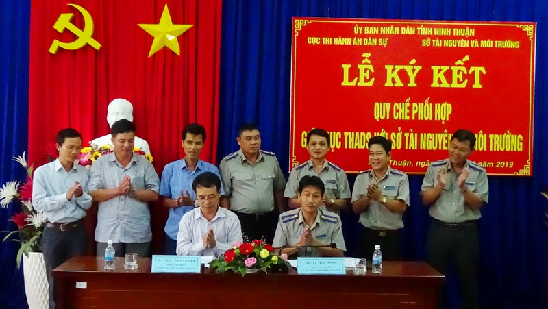 Cục THADS Ninh Thuận ký Quy chế phối hợp với Sở Tài nguyên và môi trường