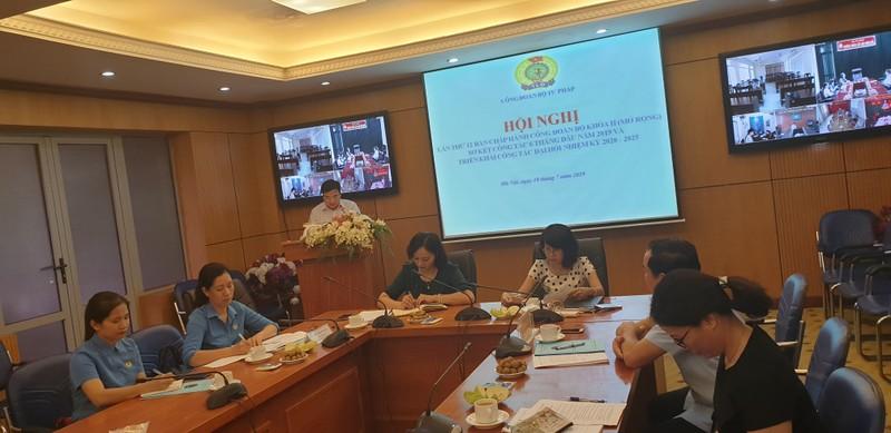 Chuẩn bị tốt cho Đại hội Công đoàn Bộ Tư pháp nhiệm kỳ 2020 - 2025