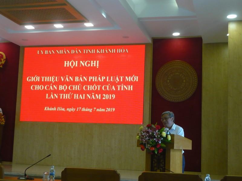 Khánh Hòa: Tổ chức Hội nghị giới thiệu 5 luật mới