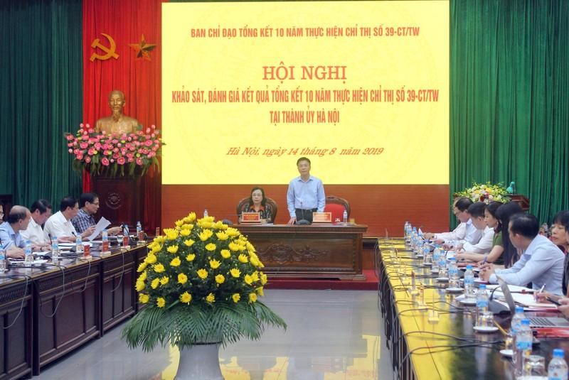 Khảo sát tình hình hợp tác nước ngoài trong lĩnh vực pháp luật tại Thành ủy Hà Nội