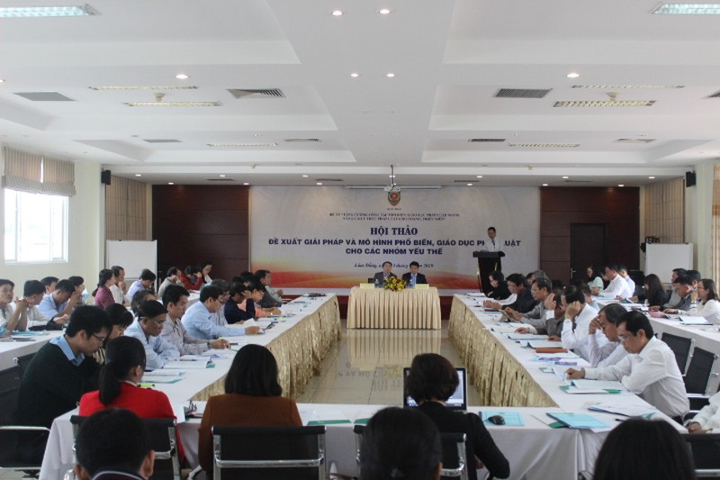 """Bộ Tư pháp tổ chức Hội thảo """"Giải pháp và mô hình phổ biến, giáo dục pháp luật cho các nhóm yếu thế"""" khu vực phía Nam"""