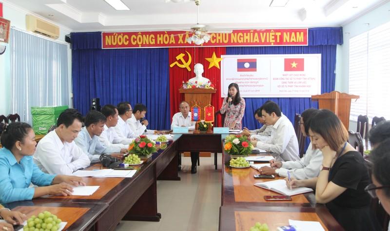 Đoàn công tác Sở Tư pháp tỉnh Attapư thăm và làm việc với Sở Tư pháp Khánh Hòa