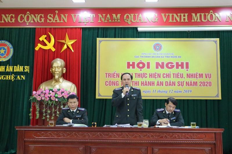 Cục Thi hành án dân sự Nghệ An giải quyết xong số lượng việc, tiền cao nhất từ trước đến nay