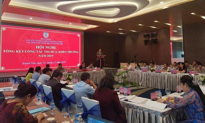 Tổng kết thi đua khối Cơ quan Tư pháp các tỉnh Nam Trung Bộ và Tây Nguyên.