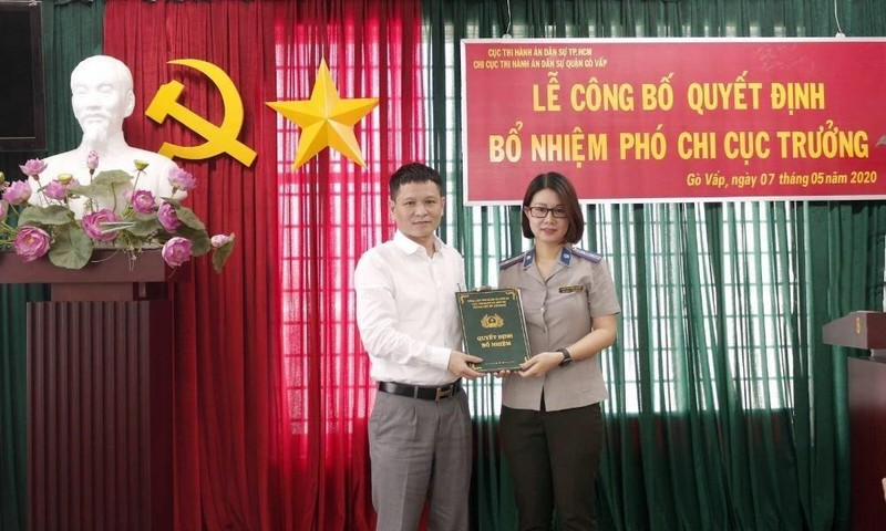 Công bố Quyết định bổ nhiệm Phó Chi cục trưởng THADS quận Gò Vấp.
