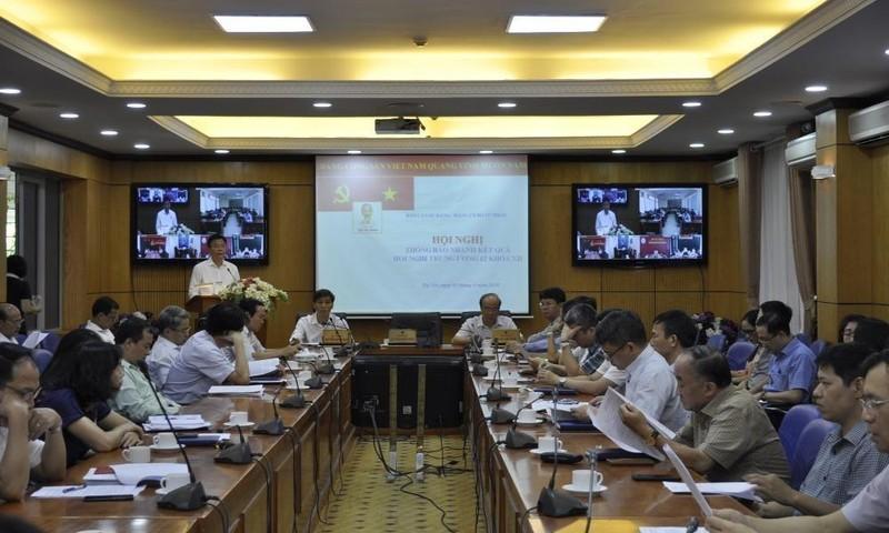 Bộ Tư pháp thông báo nhanh kết quả Hội nghị Trung ương 12 khoá XII