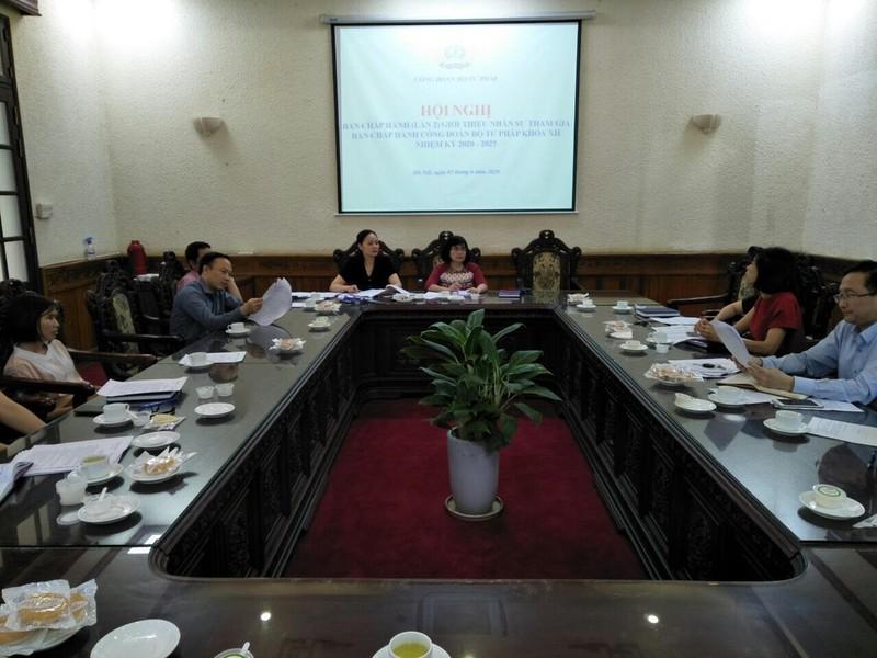 Làm tốt công tác chuẩn bị Đại hội đại biểu Công đoàn Bộ Tư pháp nhiệm kỳ 2020-2025