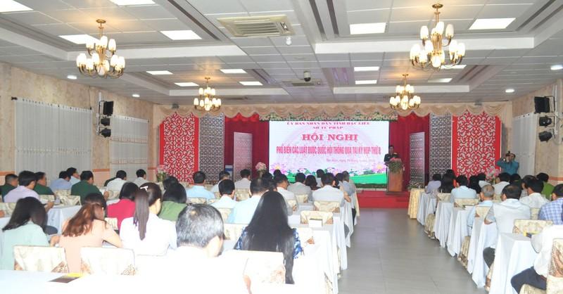 Bạc Liêu phổ biến các luật được Quốc hội thông qua tại kỳ họp thứ 8