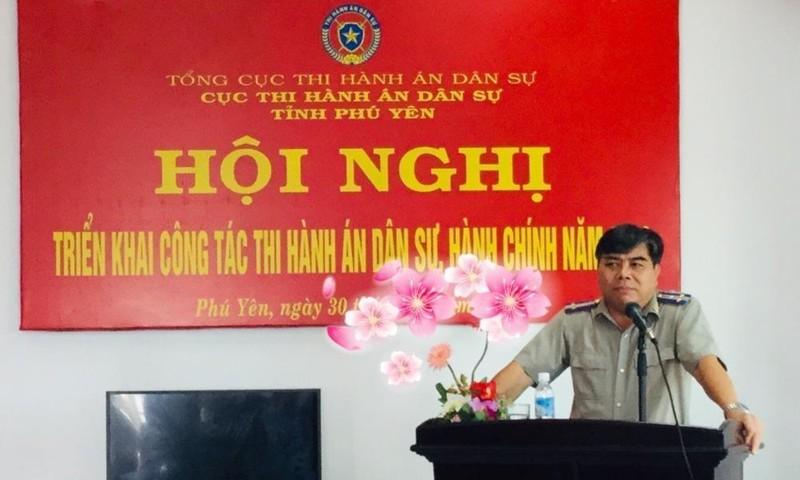 Người nỗ lực trong đổi mới lãnh đạo, điều hành Thi hành án dân sự tỉnh Phú Yên.