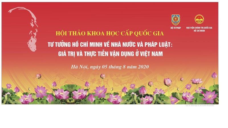"""Lùi thời điểm tổ chức Hội thảo khoa học cấp quốc gia """"Tư tưởng Hồ Chí Minh về Nhà nước và pháp luật"""""""
