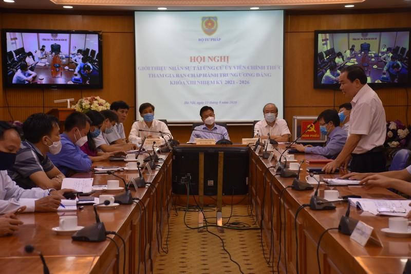 Bộ Tư pháp: Giới thiệu nhân sự tái ứng cử tham gia Ban Chấp hành Trung ương Đảng khóa XIII