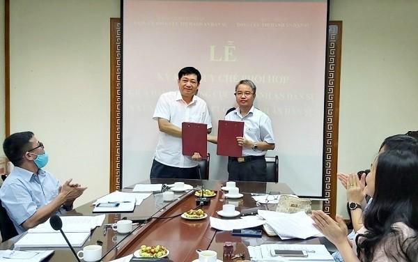 Ký kết Quy chế phối hợp giữa Đảng ủy và Lãnh đạo Tổng cục THADS