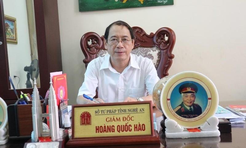 Giám đốc Sở Tư pháp Nghệ An Hoàng Quốc Hào
