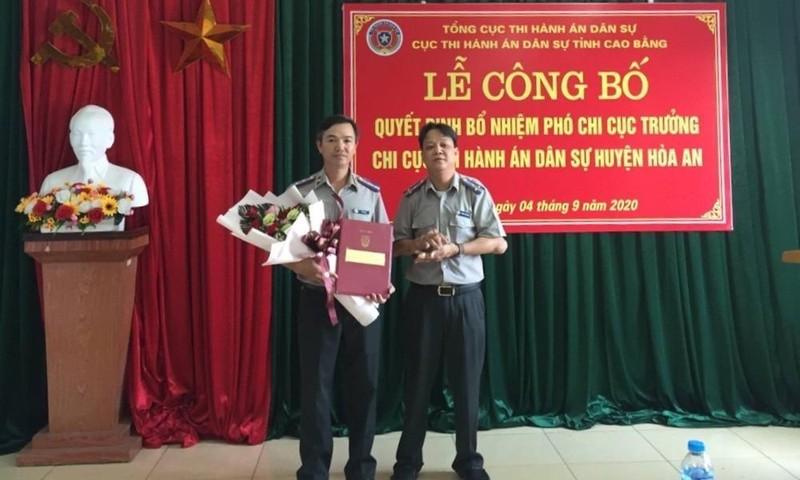 Cao Bằng bổ nhiệm Phó Chi cục trưởng THADS huyện Hòa An