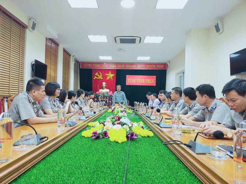 Tổng Cục trưởng Nguyễn Quang Thái thăm và làm việc với Cục THADS tỉnh Vĩnh Phúc