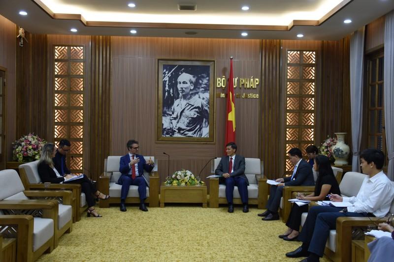 Lãnh đạo Bộ Tư pháp tiếp Đại sứ - Trưởng Phái đoàn liên minh Châu Âu