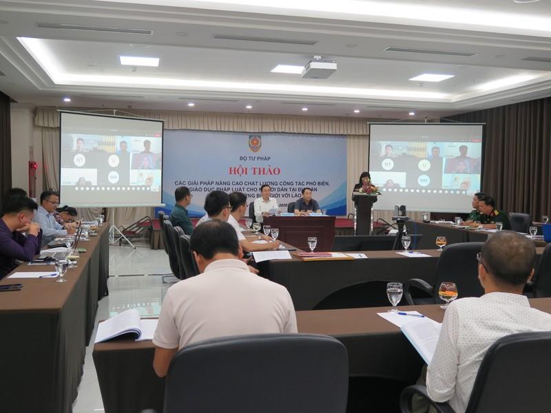 Nâng cao chất lượng công tác PBGDPL cho người dân tại địa bàn có chung đường biên giới với Lào