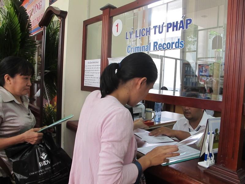 Công tác cấp phiếu lý lịch tư pháp cho người dân ngày càng nhanh chóng, thuận tiện.