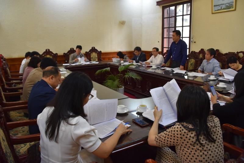 Họp Hội đồng bình xét các sự kiện nổi bật Ngành Tư pháp