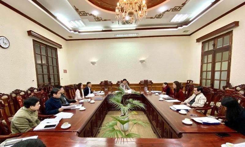 Thứ trưởng Nguyễn Thanh Tịnh nghe báo cáo chuẩn bị Hội nghị tổng kết công tác Tư pháp 2020