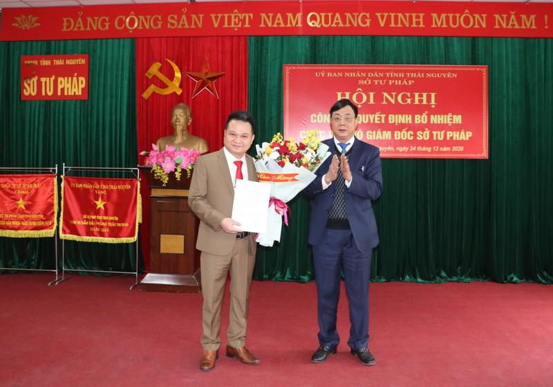Bổ nhiệm Phó Giám đốc Sở Tư pháp Thái Nguyên