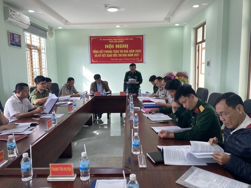 Cam Lâm, Khánh Hòa: Ký kết giao ước thi đua Khối Nội chính năm 2021