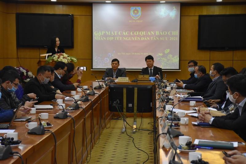 Bộ Tư pháp gặp mặt các cơ quan báo chí nhân dịp Tết Nguyên đán Tân Sửu