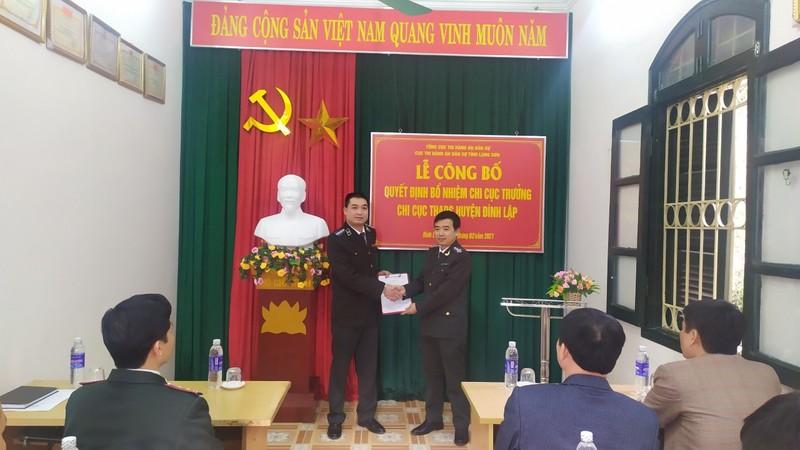 Lạng Sơn: Bổ nhiệm Chi cục trưởng Thi hành án dân sự huyện Đình Lập