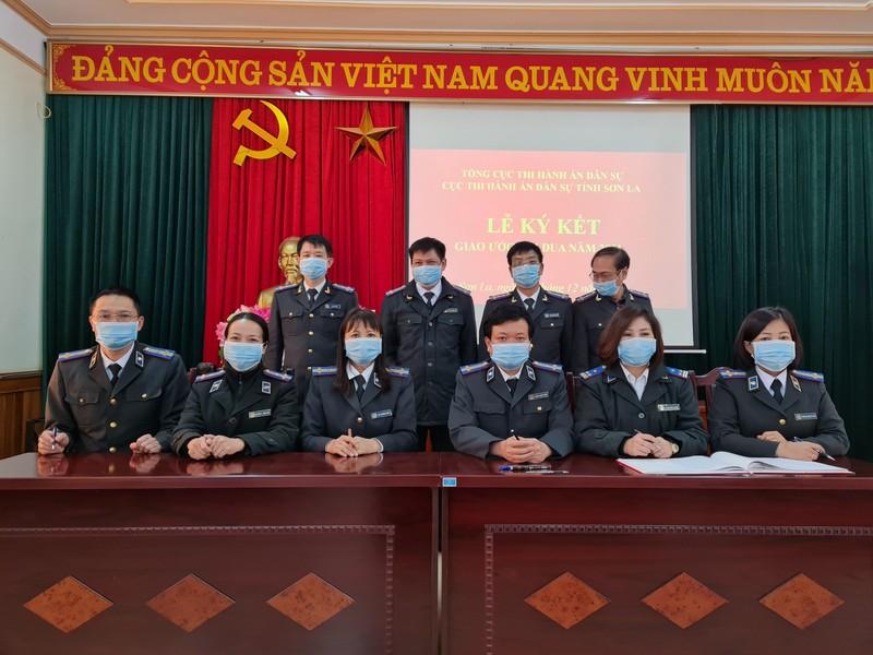 Lễ ký giao ước thi đua do Cục THADS Sơn La tổ chức.