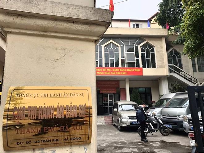 Trụ sở Cục Thi hành án dân sự Hà Nội
