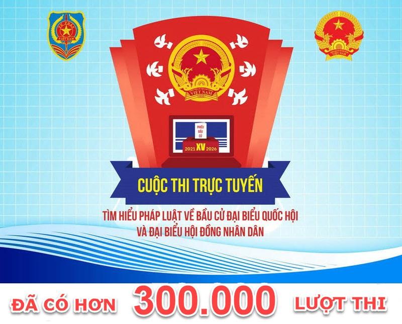 Hà Nội vươn lên dẫn đầu với 41.214 người dự thi tìm hiểu pháp luật về bầu cử