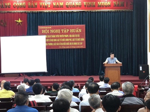 Yên Dũng, Bắc Giang: Tập huấn nghiệp vụ cho Báo cáo viên pháp luật, tuyên truyền viên pháp luật