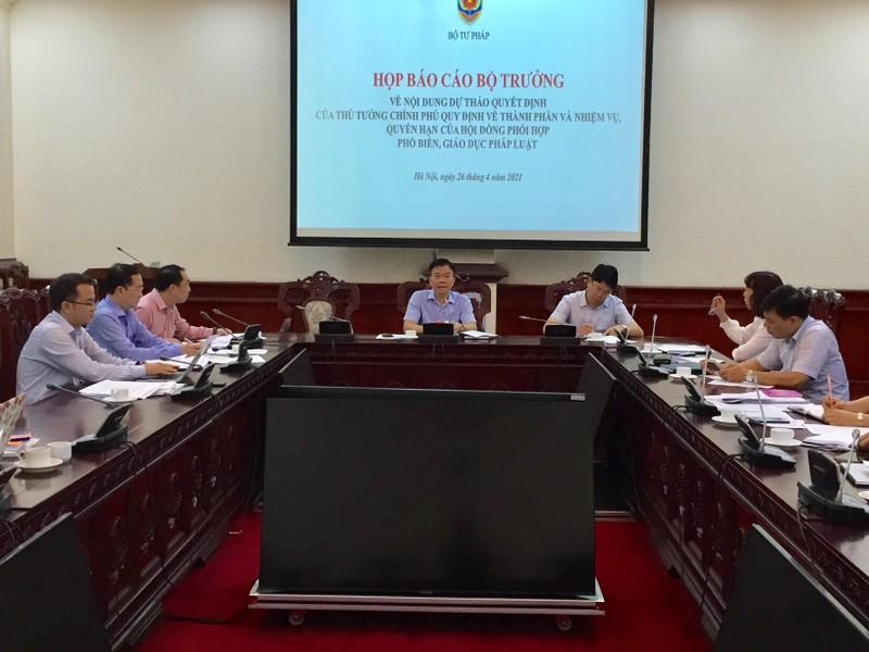 Hội đồng phối hợp Phổ biến, giáo dục pháp luật các cấp: Đảm bảo tính tinh gọn, hiệu quả