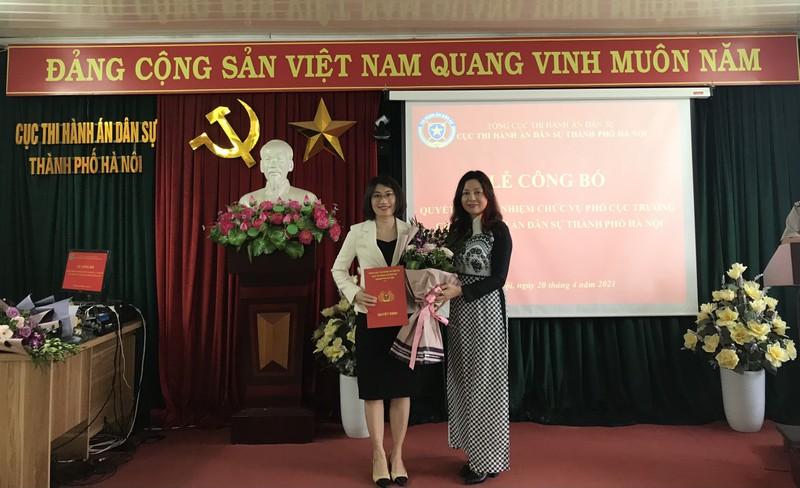 Cục Thi hành án dân sự Hà Nội có tân Phó Cục trưởng