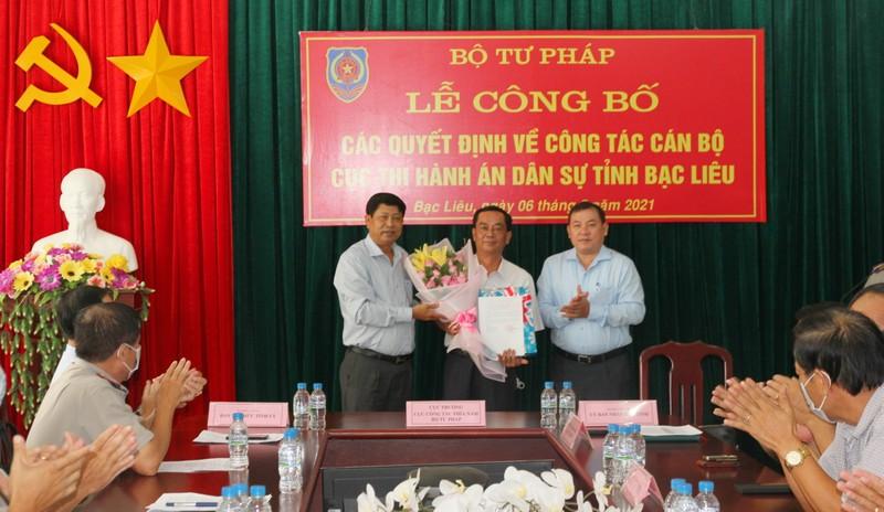 Ông Lê Quốc Minh giữ chức Cục trưởng Cục Thi hành án dân sự tỉnh Bạc Liêu