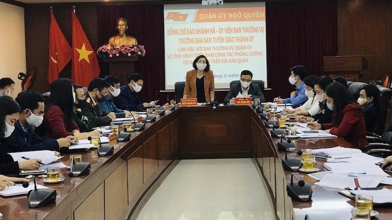 Quận Ngô Quyền (Hải Phòng) đề nghị tổ chức khai báo y tế tại các bến xe, ga tàu