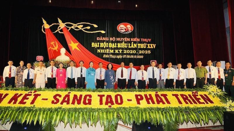 Huyện Kiến Thụy, Hải Phòng tổ chức Đại hội Đảng bộ huyện Kiến Thuỵ lần thứ XXV, nhiệm kỳ 2020 - 2025