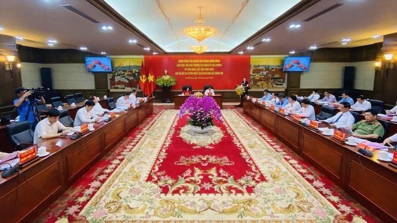 Trưởng ban Dân vận Trung ương Trương Thị Mai làm việc với lãnh đạo thành phố Hải Phòng