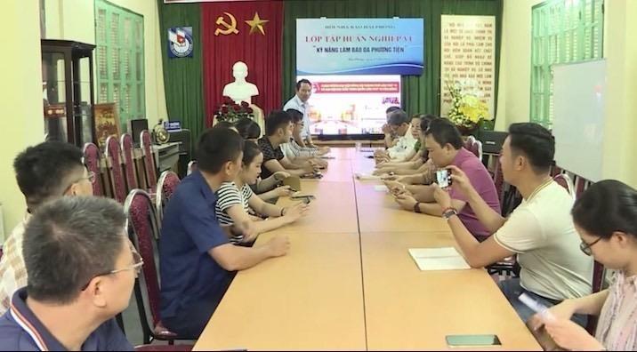 Hội Nhà báo Hải Phòng: Bồi dưỡng nghiệp vụ báo chí đa phương tiện