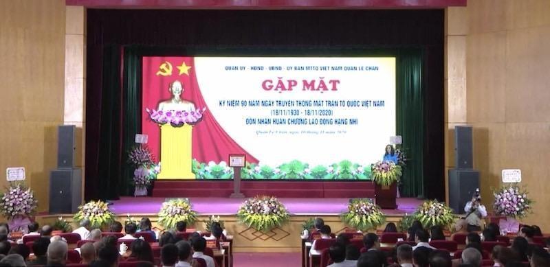 Quận Lê Chân (Hải Phòng) kỷ niệm 90 năm Ngày truyền thống Mặt trận Tổ quốc Việt Nam.