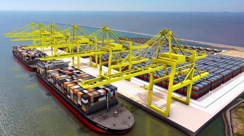 Phối cảnh hai bến container số 3, 4 cảng Lạch Huyện.