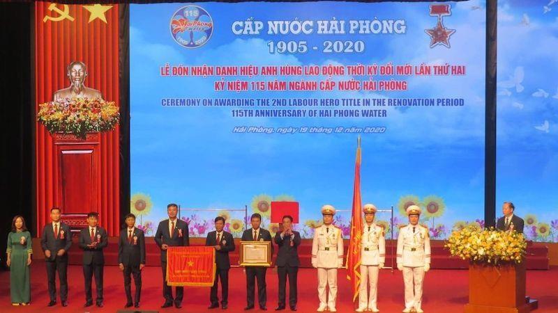 Công ty Cổ phần Cấp nước Hải Phòng đón nhận Danh hiệu Anh hùng lao động lần II