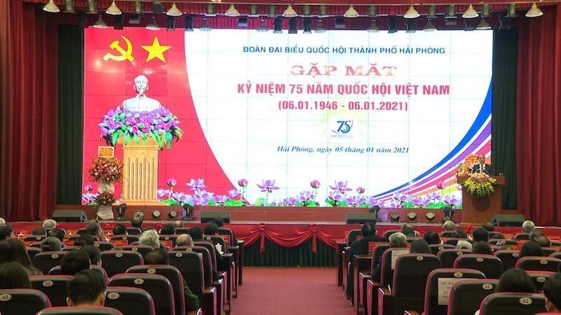 Đoàn đại biểu Quốc hội Hải Phòng gặp mặt kỷ niệm 75 năm Ngày Tổng tuyển cử đầu tiên.