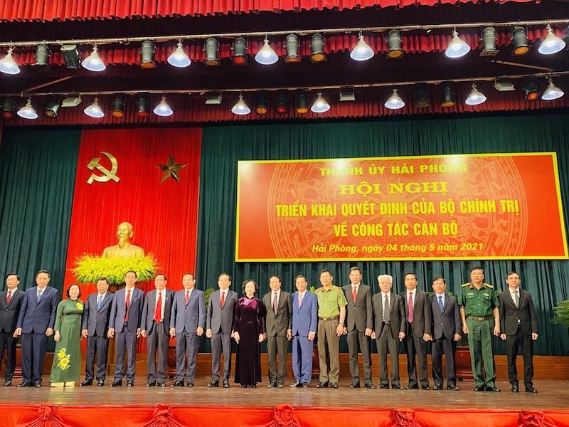 Ông Trần Lưu Quang nhận quyết định làm Bí thư Thành uỷ Hải Phòng