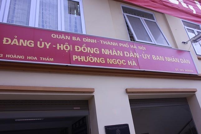 UBND phường Ngọc Hà thừa nhận chưa xử lý được công trình sai phép