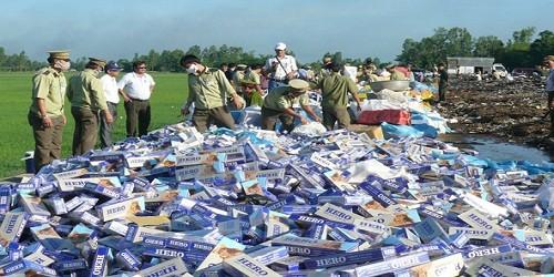 Buôn 500 bao thuốc lá lậu sẽ bị xử lý hình sự