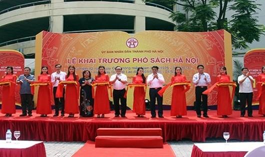 Khai trương phố sách đầu tiên tại Hà Nội
